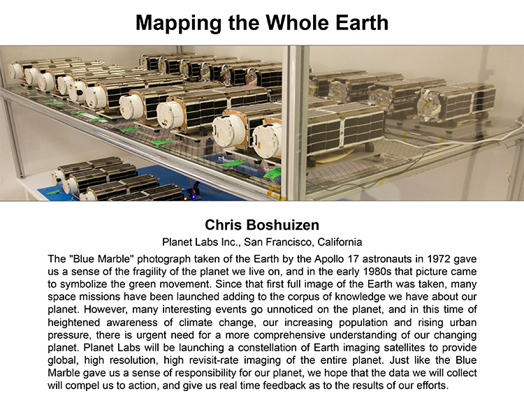 Plenary: MAPPING THE WHOLE EARTH