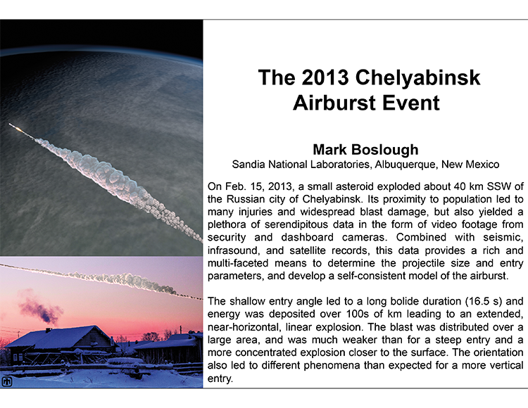 Plenary: THE 2013 CHELYABINSK AIRBURST EVENT
